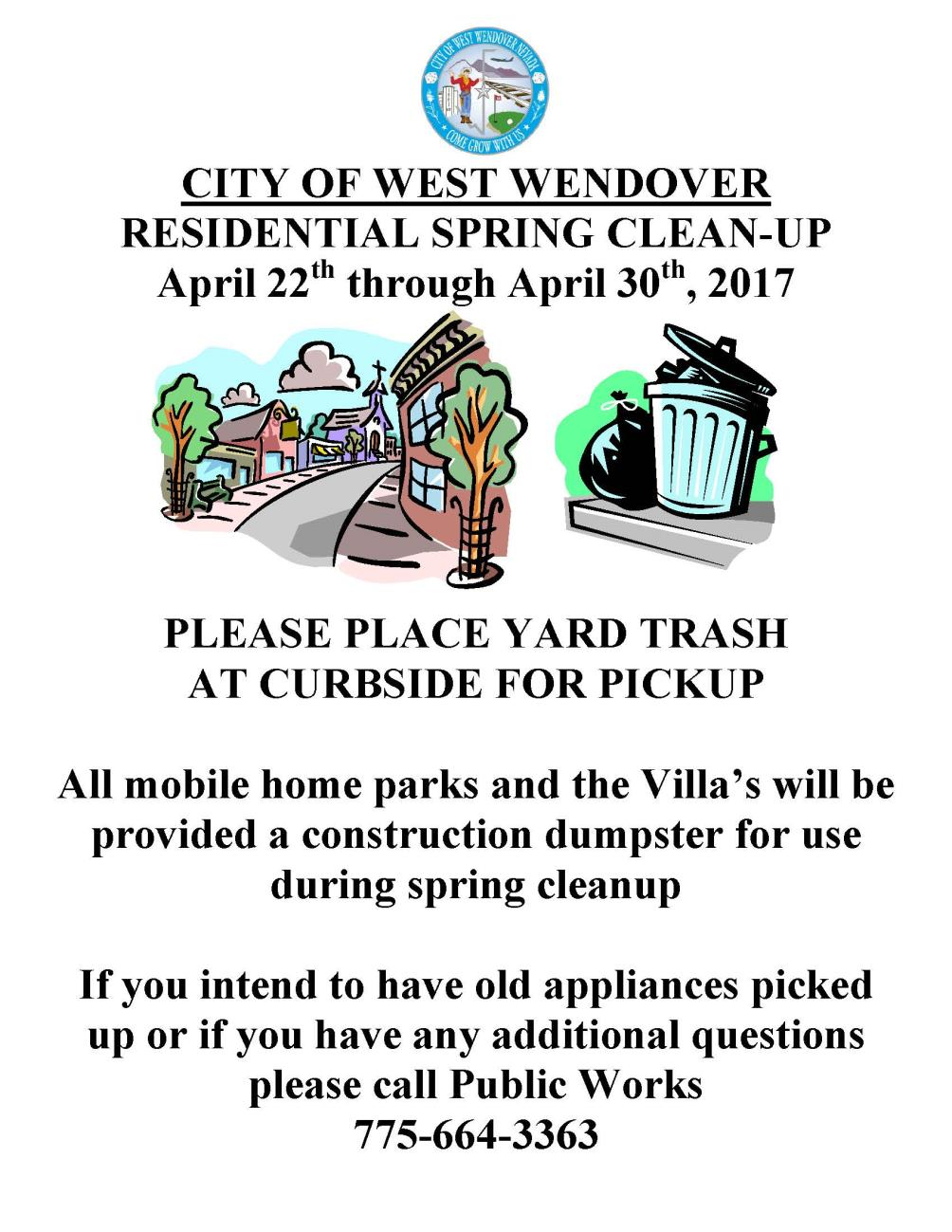 2017 Spring Clean Up Flyer Image