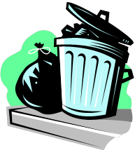 Spring Clean Up Trash Can Image
