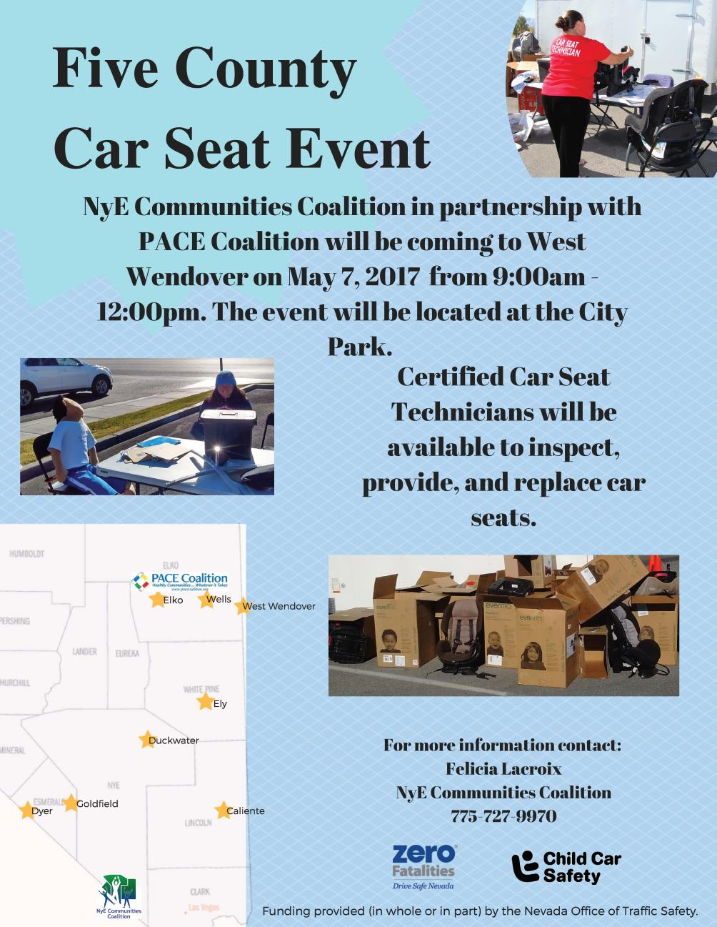 5 County West Wendover Car Seat Flyer