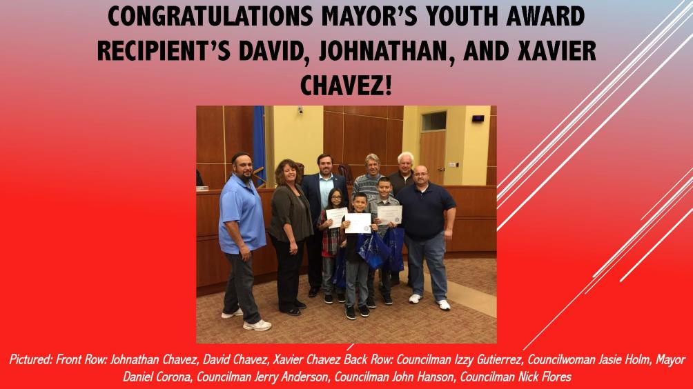 Mayors Youth Award WWES - April 2017