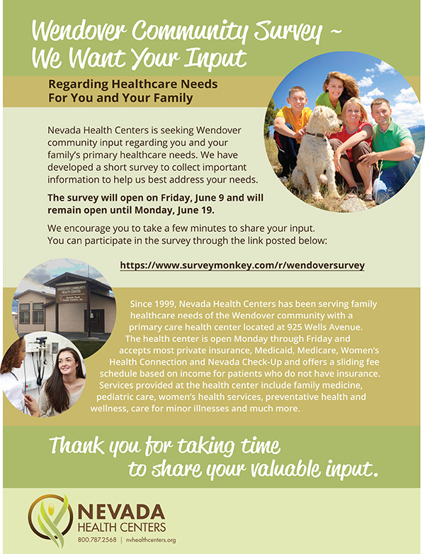 Wendover Health Survey Flyer image small
