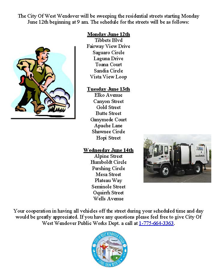 Street Sweeper Schedule Flyer Image