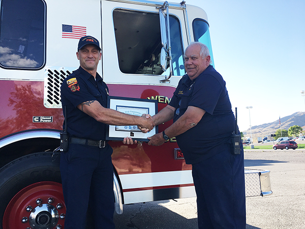 Fire Captain Loncar Receives Certificate from Utah Commission on Fire Officer Designation Program