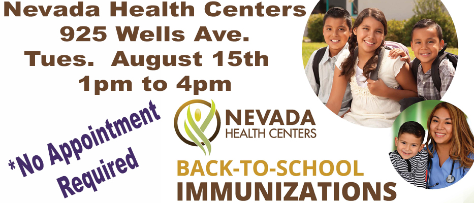 Back to School Immunizations - Nevada Health Centers