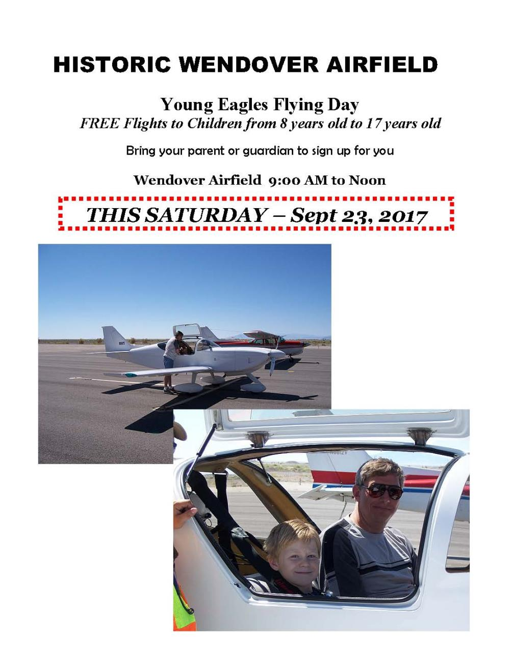Young Eagles Flying Day - Wendover Airport