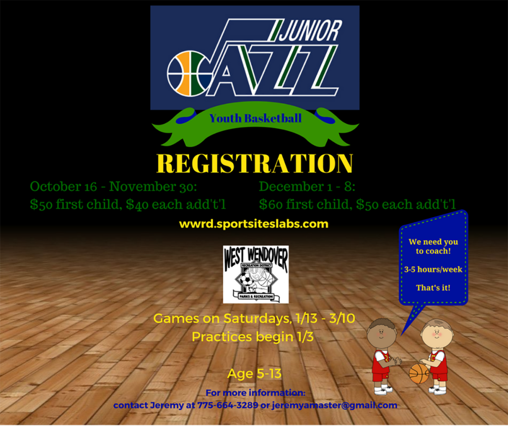 West Wendover Recreation District  - Jr. Jazz Youth Basketball