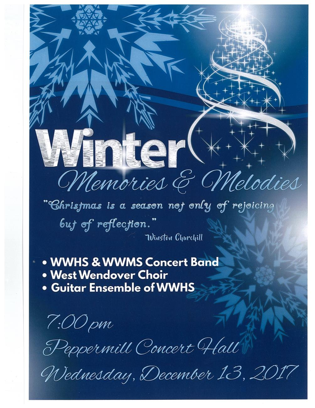 WWHS & WWMS Winter Concert Flyer Image