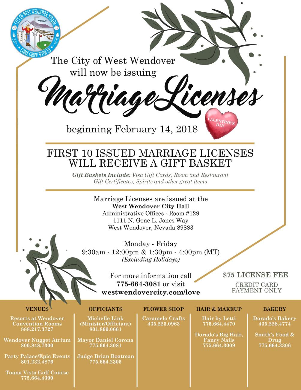 Marriage License Flyer