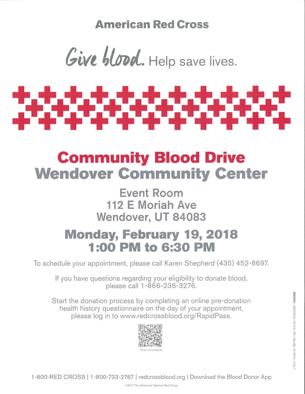 American Red Cross - Community Blood Drive