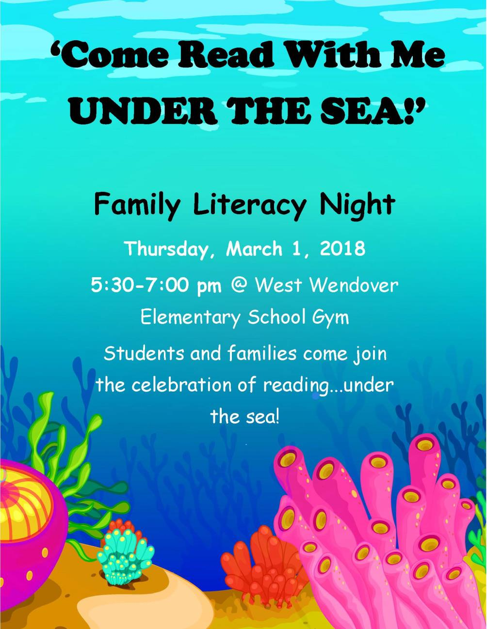 Publication correctedUNDER THE SEA literacy night flyer