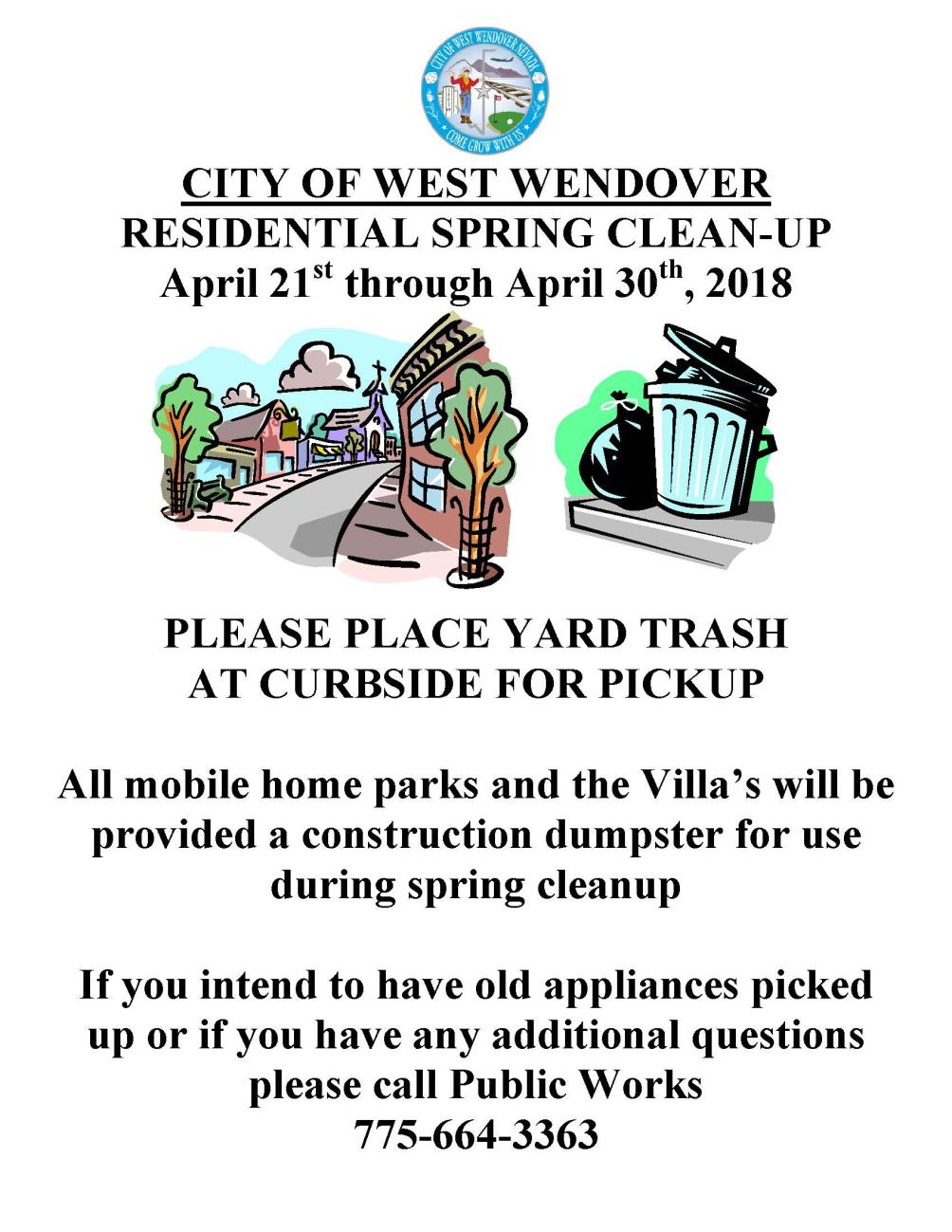 Spring Clean Up Flyer image