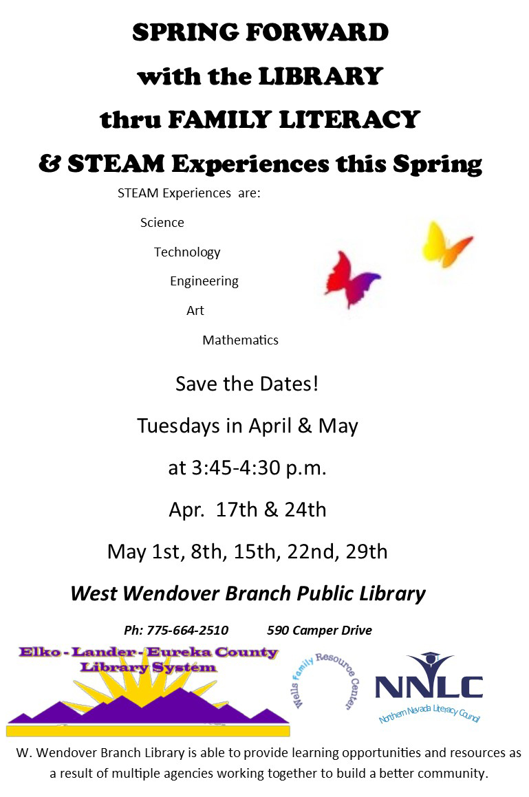 Spring Forward with WW Library - Family Literacy and STEAM Experiences