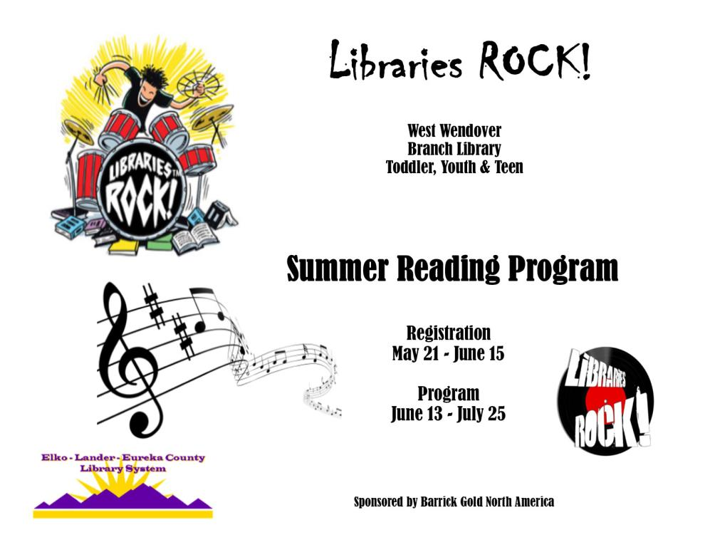 West Wendover Library Summer Reading Program 201