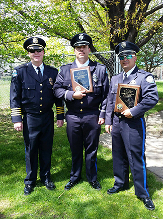 Officers Sanchez and Pantelakis Receive Award