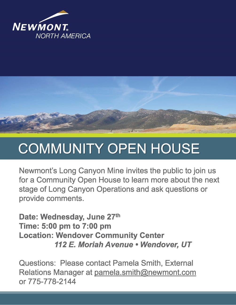 Newmont - Long Canyon Mine - Community Open House