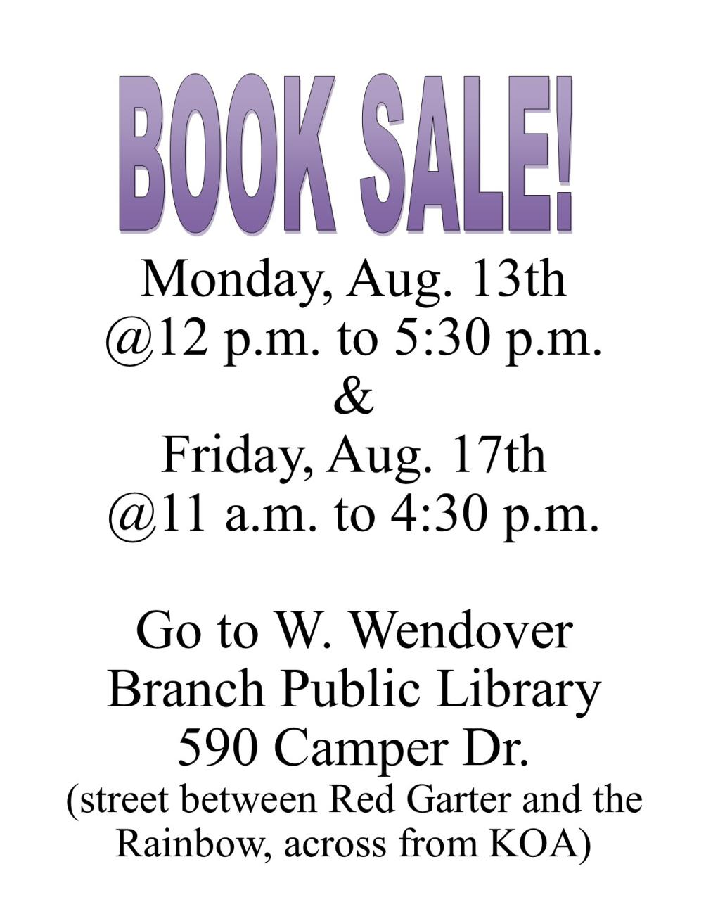West Wendover Library - Book Sale