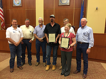 Elko County Commission Awards Plaques to Cities