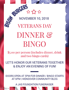 JAS Foundation - Veterans Day Dinner and Bingo-small