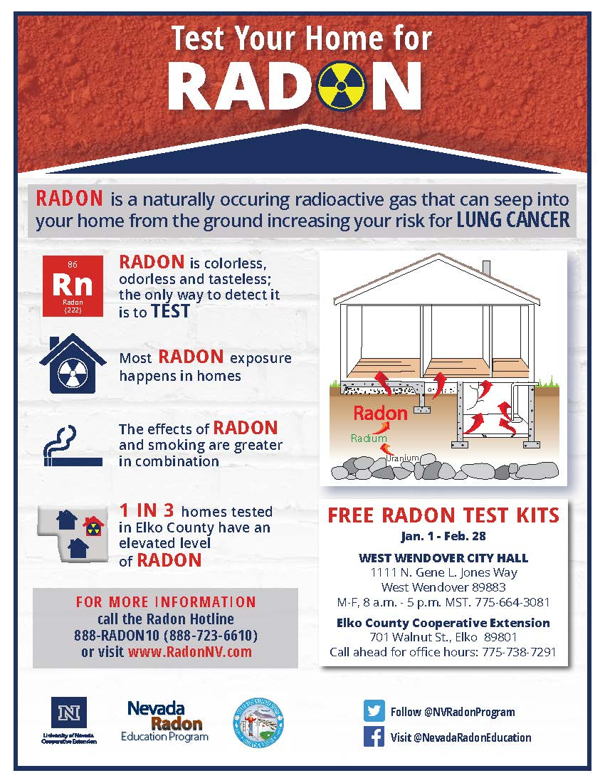 City Assists Nevada Radon Education Program in Providing Radon Test Kits