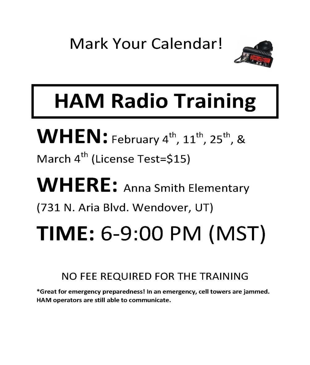 HAM Radio Training at Anna Smith Elementary School
