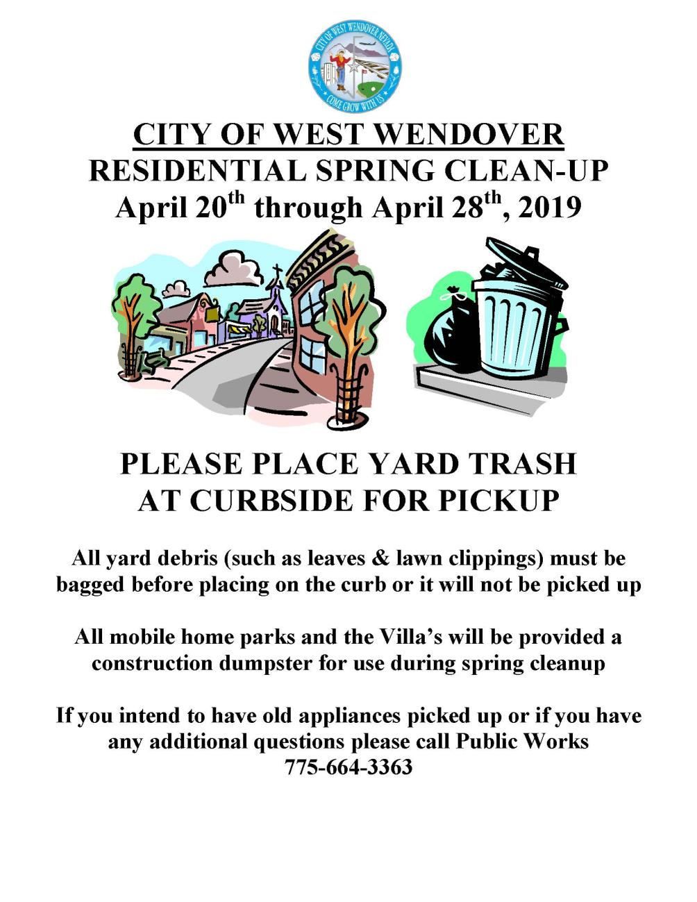 Spring Clean Up Flyer 2019 - English
