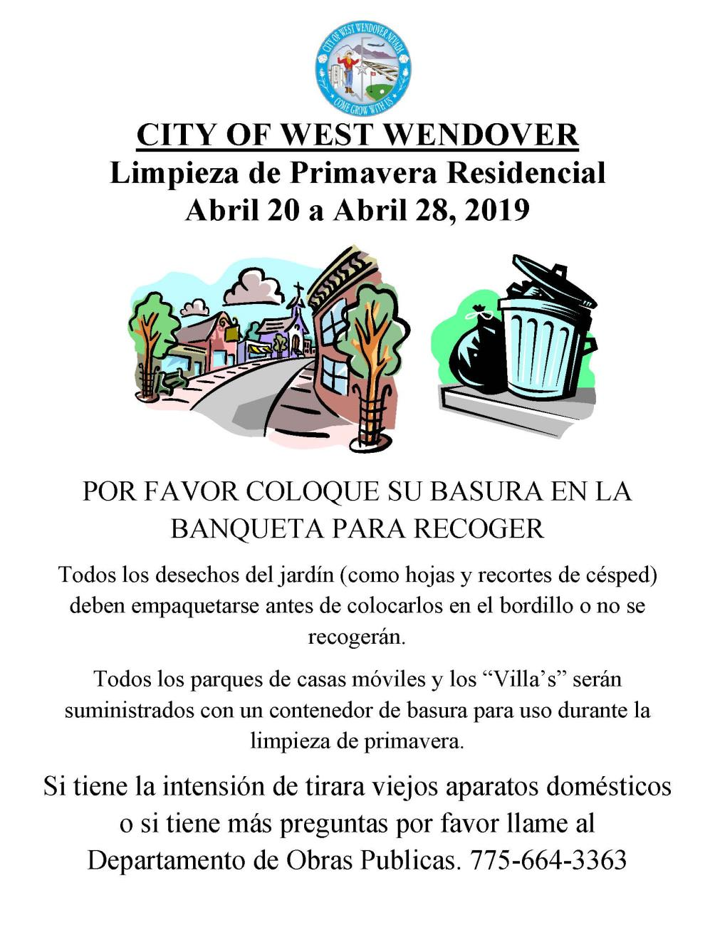Spring Clean Up Flyer 2019 - Spanish