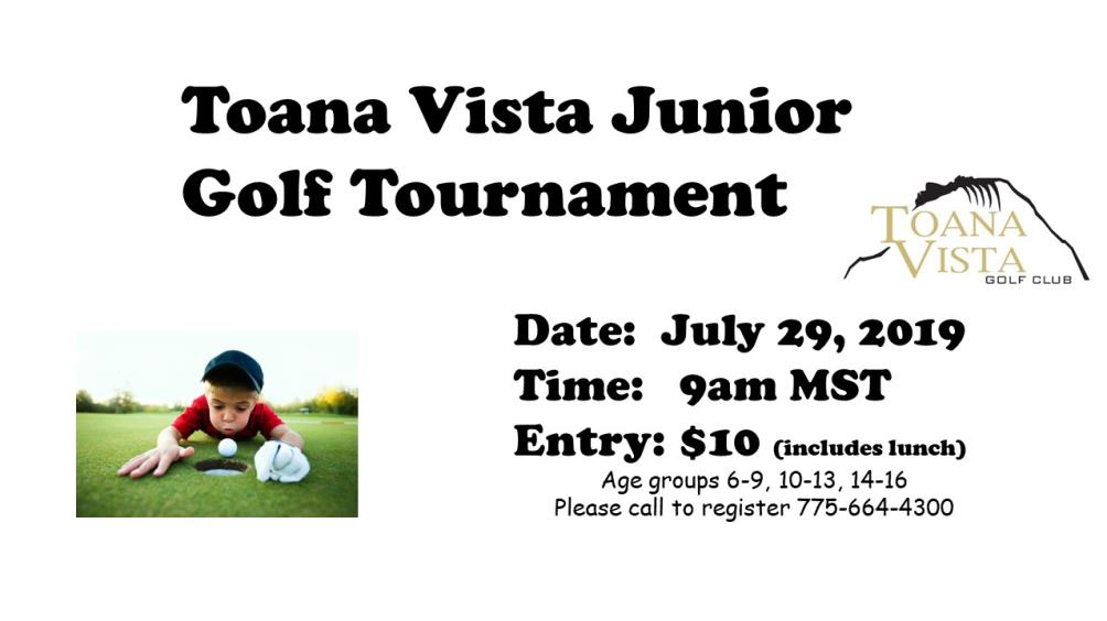 Toana Vista Golf Club Holds Jr. Golf Tournament