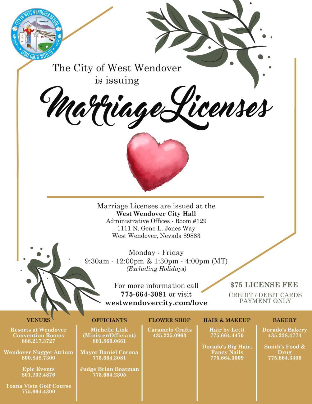 Marriage License Flyer Update 8-9-2019