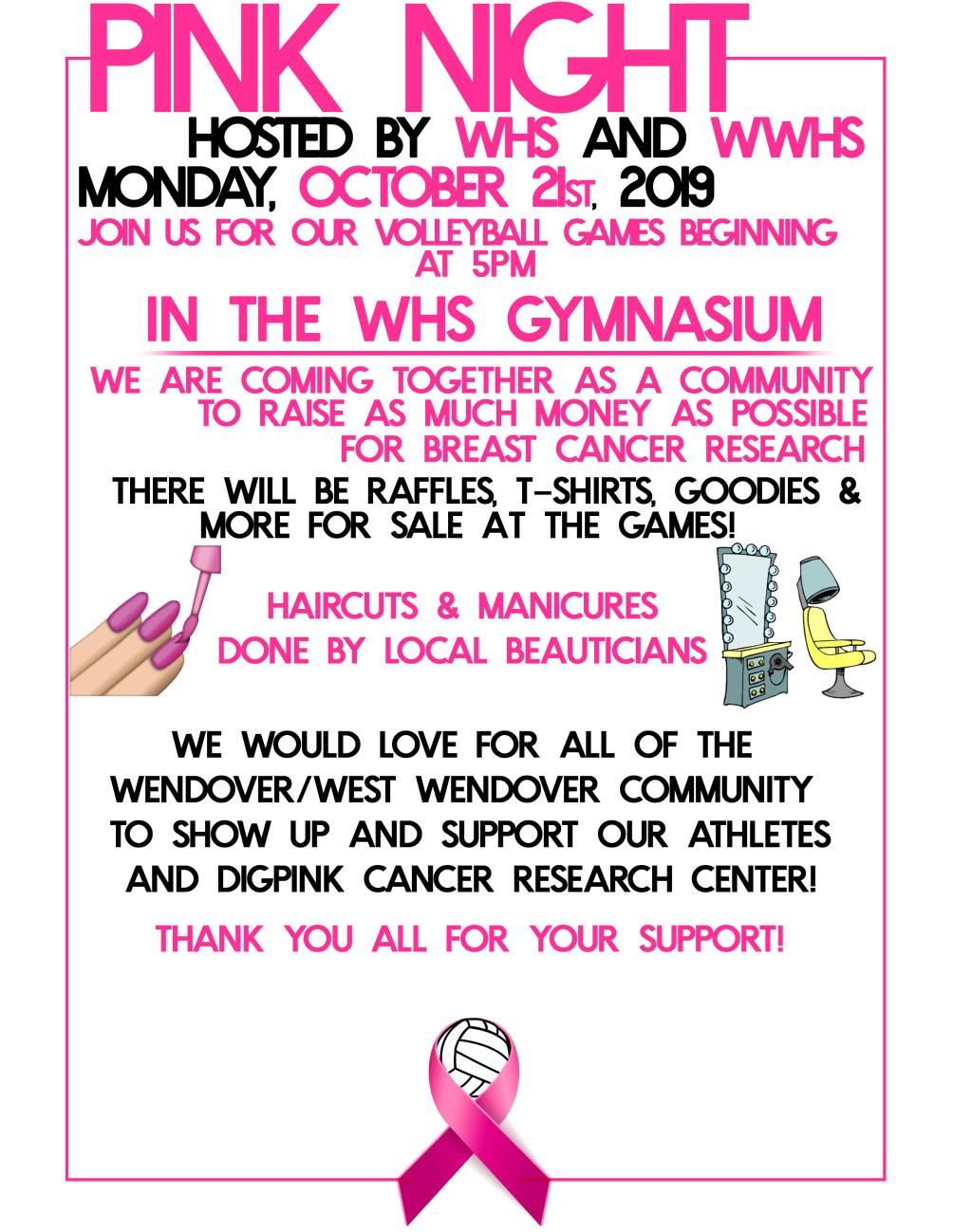 Local High Schools Host Pink Night