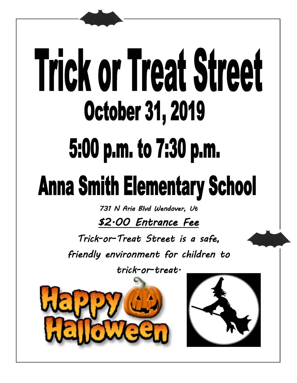Trick or Treat Flyer 10-31-2019