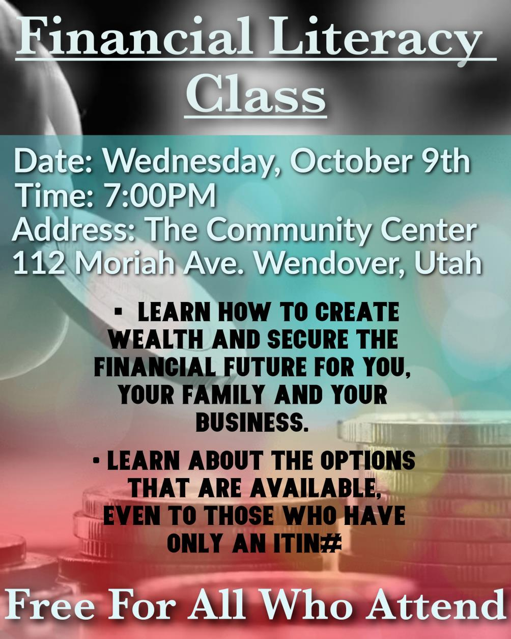 Wendover Community Center Hosts Financial Literacy Class