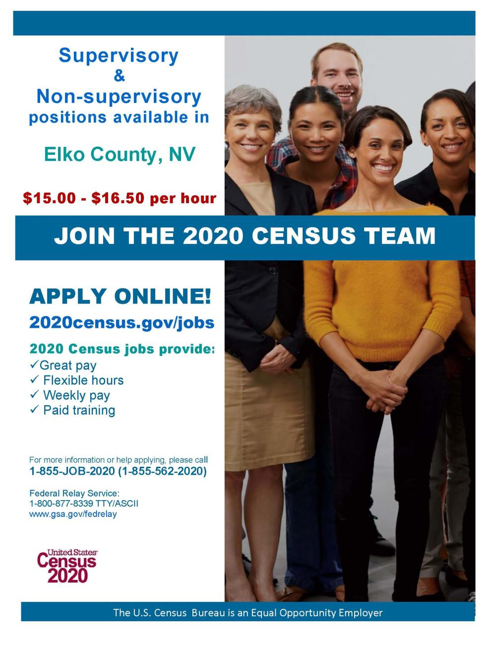 Be Part of the 2020 Census Team