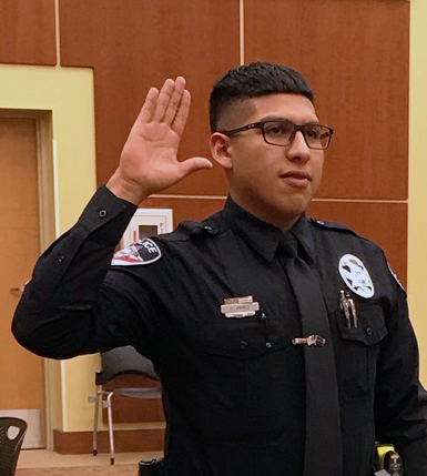 Police Officer Luis Perez Sworn In