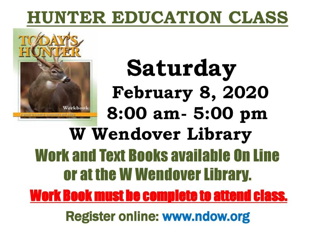 NDOW Offers Hunter Education Class, March 14th
