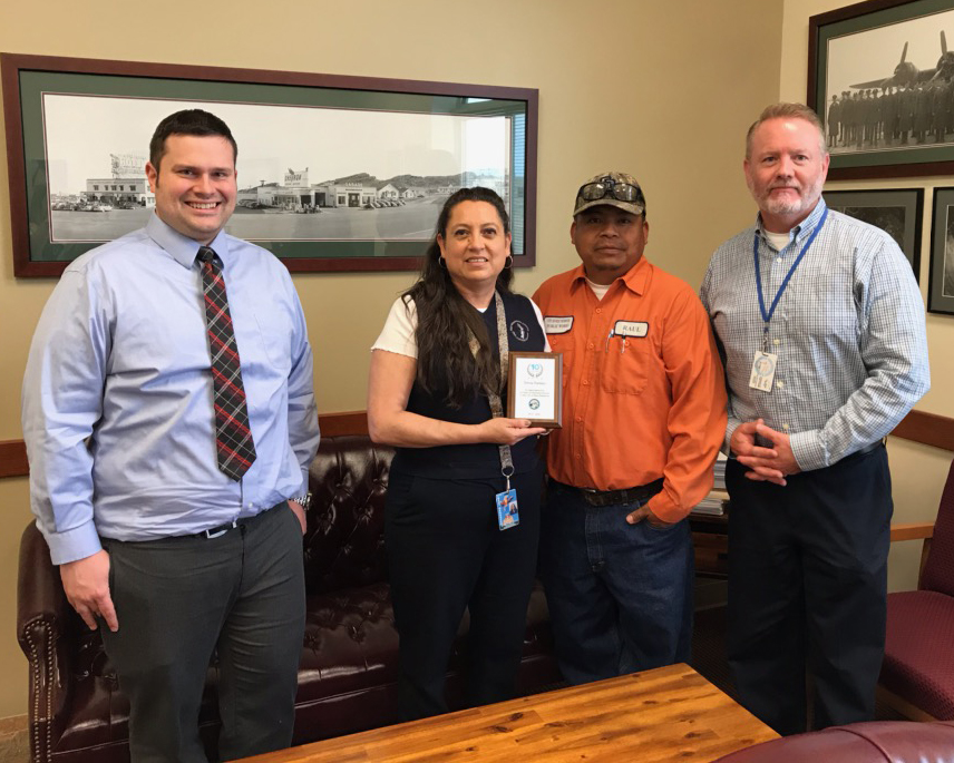 Teresa Naranjo, Court Office Manager, Receives Service Award