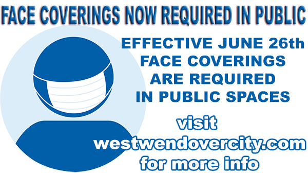 Face Coverings are Now Required in Public Spaces - Effective June 26th